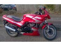 Kawasaki GPZ500S, Red, T-Reg 1999, very low 16,791 miles, MOT June17, FSH, One owner from new.