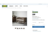 Baby cot with free mattress