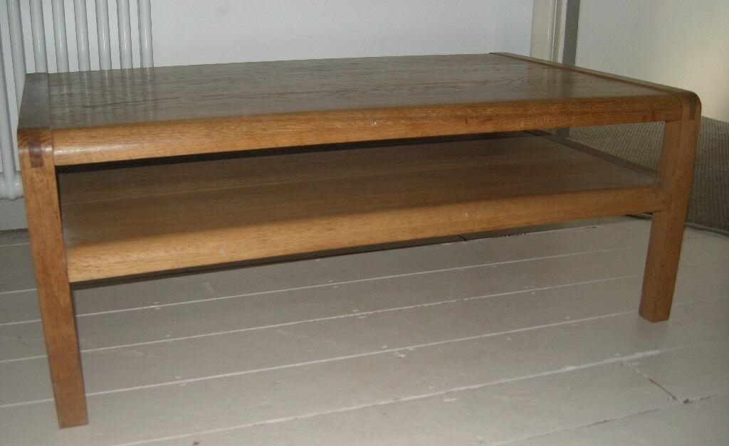 habitat 'radius' large oak coffee table designedsimon pengelly