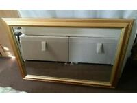 Large gold frame mirror in excellent condition