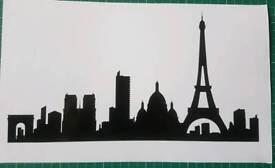 Paris skyline Vinyl Wall Decal Sticker