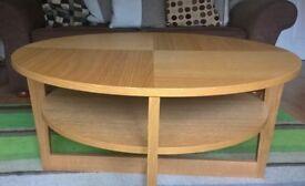 Ikea Oak Coffee Table - 'Vejmon'