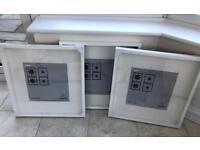 3 Ikea Ribba White Frames