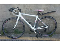 White and Pink Ladies Viking Elysee Road Race Bike In Excellent Condition