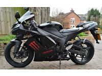 Kawasaki ZX6R Ninja 2007. Very low mileage and excellent condition.