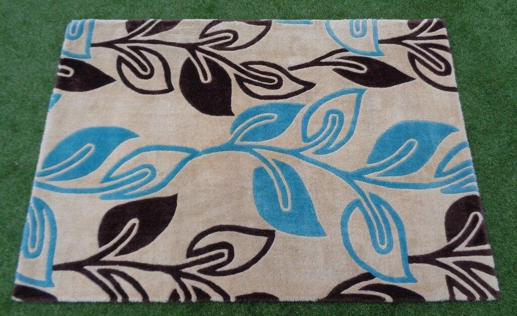 Ultimate Rug Co Fl Art Retro Flower Cream Contemporary 100 Wool