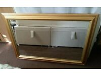 Large gold frame mirror in excellent condition 100 cm by 70 cm