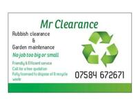 MR CLEARANCE Bristol rubbish clearance/rubbish services/house clearances/garden services