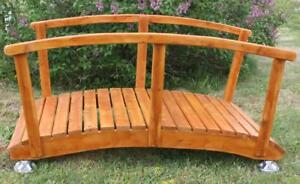 Weather Resistant Cedar Wood Garden Bridge Patio Furniture - Free Shipping