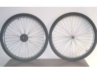 wheelset (front and rear) 26 x 1.95 +tyres+inner tubes