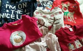Girls Xmas clothed 12-18 months