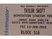 4 Tickets seated together Taylor Swift Reputation Stadium Tour - Friday 15 June 2018