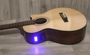 Free Shipping ! Acoustic Electric Bass Guitar built in tuner 4 string iBass243EQ