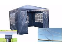 New Airwave 3 x 3 m Blue Party Tent Gazebo Marquee with Unique WindBar and Side Panels