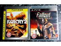 Far Cry 2 Platinum, Fallout New Vegas - Playstation 3 / PS3 Games