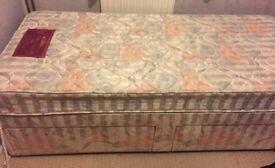 Single bed - mattress and Divan Base