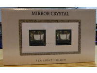 Mirror Crystal Tealight Holder by the Leonardo Collection – New