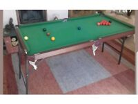 4ft foldable snooker table