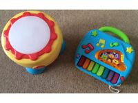 Grow & Play Bongo & Piano - Costs £25 New - Selling £5 For Both