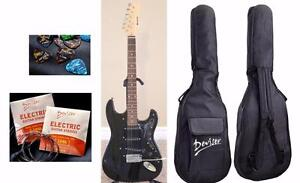 Electric Guitar for beginners with Tremolo Black Brand New iMEG272-2 Free Gig bag String set 5 picks
