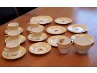 Beautiful 19-piece Delphhine Bone China Tea Set