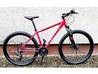 Like new Raleight Helion 3.0 mountain bike - 17 frame - Disc brakes