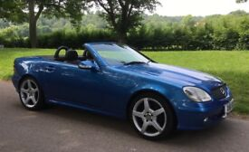 Mercedes SLK 320 Lazulite Blue Convertible with V6 engine.Stylish,fun and fast! A car to turn heads!