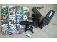 Xbox 360 complete console with 10 game Xbox 360 Kinect