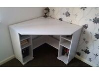 Corner Desk - White Ikea Borgsjo model in as new condition. £35