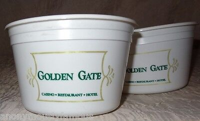 Vintage GOLDEN GATE Casino Hotel Coin Cup Las Vegas Nevada