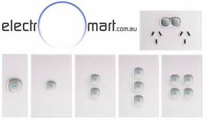 Opal Glass Panel LED Light Switch And Power Points Fairfield East Fairfield Area Preview