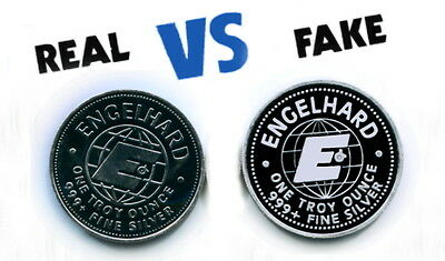 Fake Silver Engelhard 1984 Maple Leaf Pan American