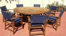 """""""FREE DELIVERY"""" KWILA HARDWOOD TABLE & 7 CHAIRS Coombabah Gold Coast North Preview"""