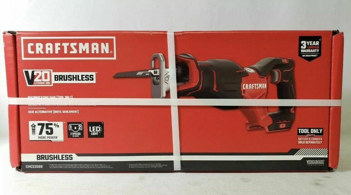 BRAND NEW Craftsman CMCS350B 20V Brushless Cordless Reciproc