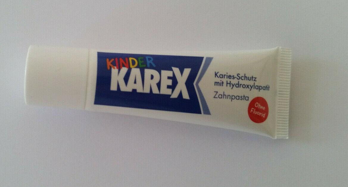 10x 10ml Karex Kinder ohne Fluorid Zahncreme  Zahnpasta Reisegrösse