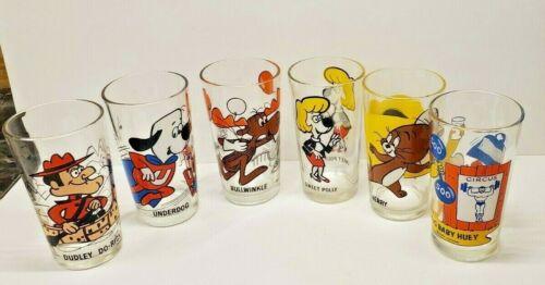 Vintage Looney Tunes Glasses Lot Of 6 1973 Pepsi Collector Series Warner Bros