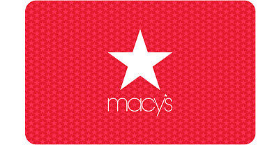 $25 / $50 / $100 / $250 / $500 Macy's Physical Gift Card - FREE 1st Class Mail