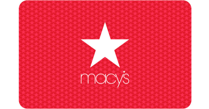 $25 / $50 / $100 / $250 / $500 Macy's Gift Card - FREE Mail Delivery