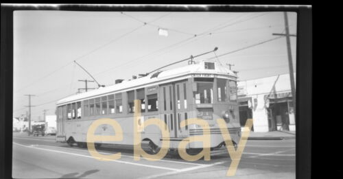 Los Angeles Trolley, Manchester & Central, 1948 - B&W Negative