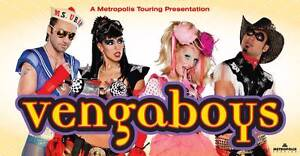 2 tickets to The Vengaboys! Will consider $ offers Sydney City Inner Sydney Preview