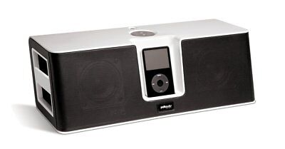 Portable Polk Audio miDock Studio iPod 30 Pins Aux Speaker System (Black/White)