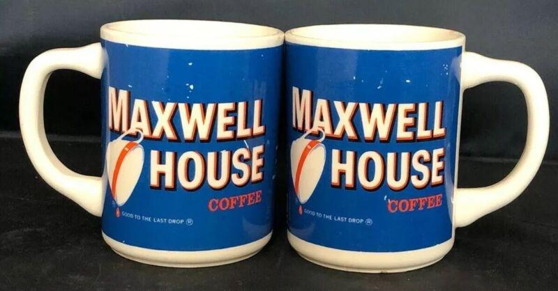 Vintage Maxwell House Coffee Mug Good To The Last Drop Set Of 2 General Foods
