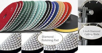 5 Inch Diamond Polishing Pad Cutting Blade 10 Pieces Granite Concrete Masonry