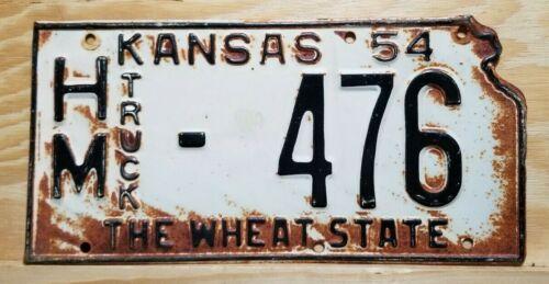 "🐾  1954 KANSAS ""TRUCK""  LICENSE PLATE (HAMILTON COUNTY)"