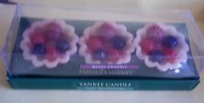 Yankee Candle Farmer's Market 'Berry Crumble' Tarts Wax Potpourri - Box of 3-New