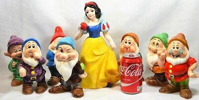 Walt Disney Japan Vintage Snow White & The Seven Dwarfs XL Figurine Set of 8