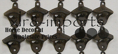 10 Rustic Cast Iron OPEN HERE Wall Mounted Beer Bottle Opener Soda FREE SHIPPING