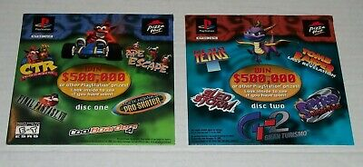 Pizza Hut PlayStation PS1 Demo Disc Promo Set of 2 Unopened with Sleeves