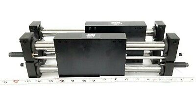 Lot Of 2 New Agi Mfg. Ags-5 Linear Slide Air Cylinders Ags5