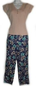 NEW - SPAGO Floral Capris & Fine Knit Sweater Set - Size 6